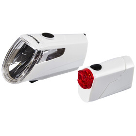 Trelock LS 360 I-GO ECO+LS 720 REEGO Bike Lights Sets white